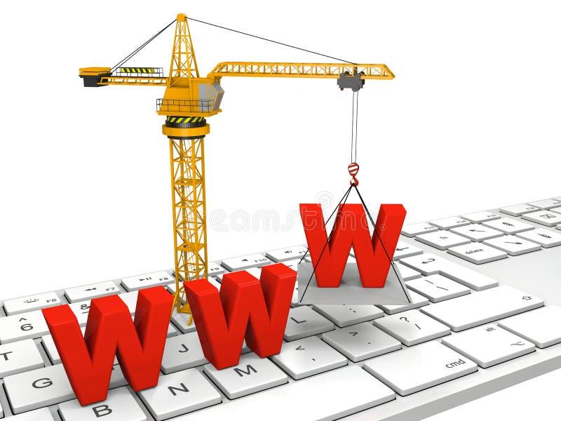 Web site im Bau stock abbildung