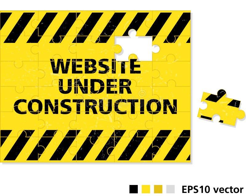 Web site im Bau vektor abbildung