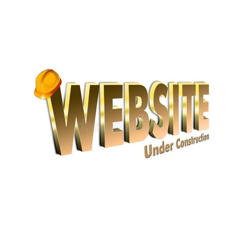 Web site im Bau 3D übertragen lizenzfreie abbildung