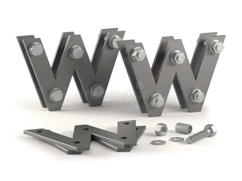 Web site im Bau - Schrauben vektor abbildung
