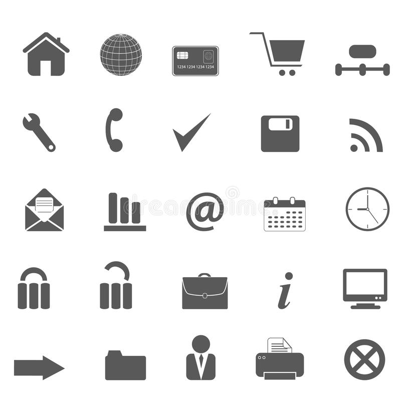 Web site and internet icons stock illustration