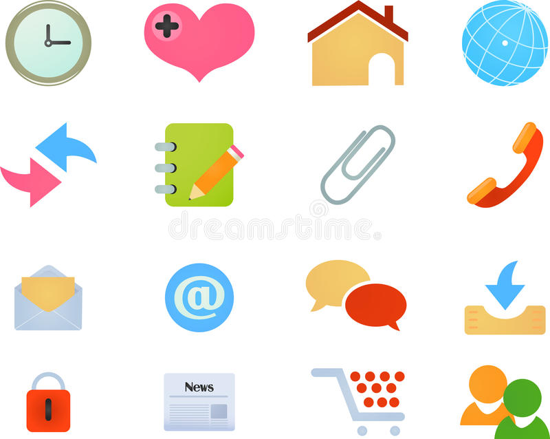 Web Site and Internet Icons vector illustration