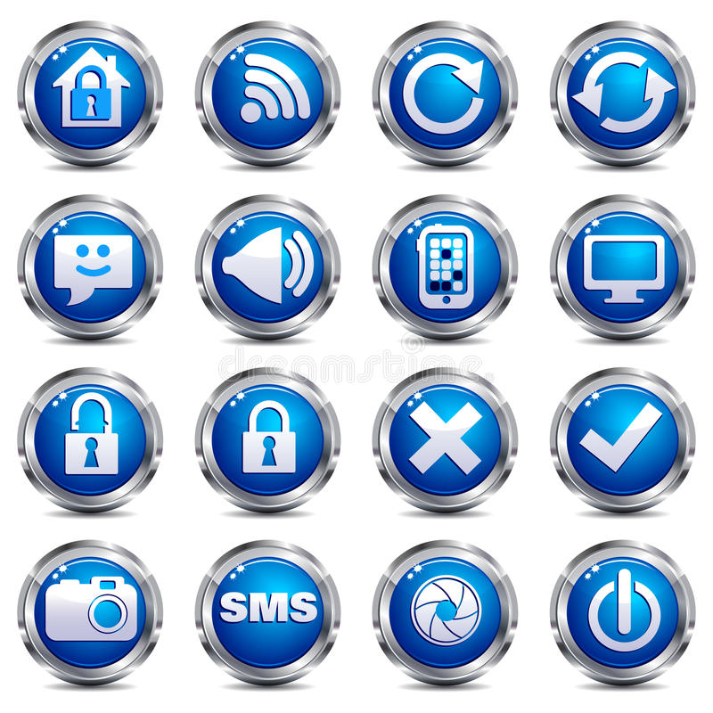 Download Web Site & Internet Icons - SET TWO Stock Photography - Image: 17909522
