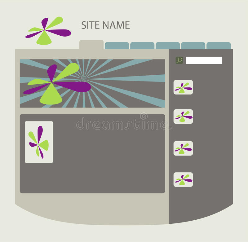 Web site layout royalty free stock photos