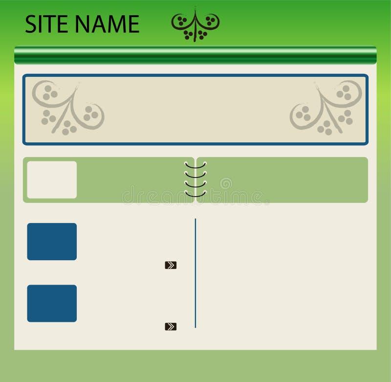 Web site layout stock image