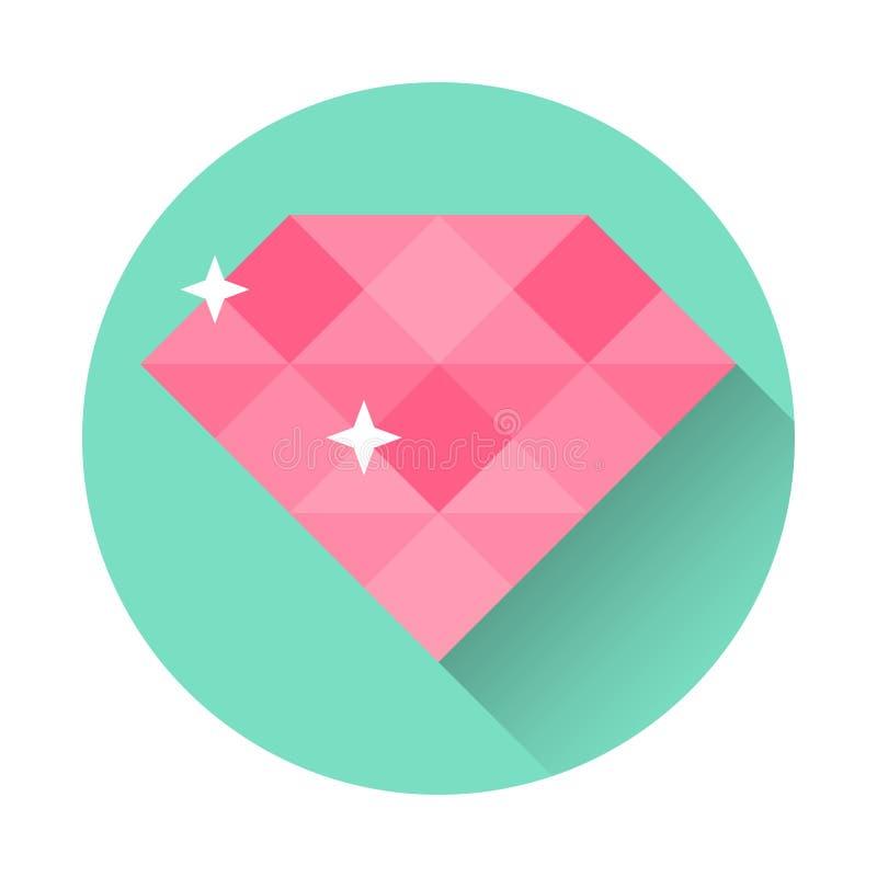 Web site liso da ilustração do vetor do ícone do diamante ilustração do vetor