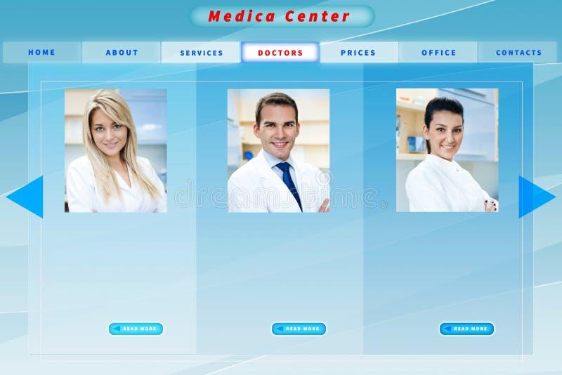 Web site médico do negócio foto de stock royalty free
