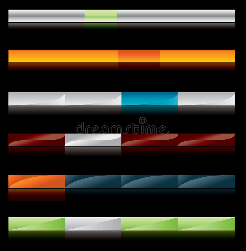 Download Web site menu buttons stock vector. Image of background - 12828295