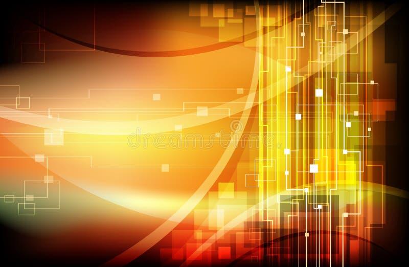 Web site moderno abstracto stock de ilustración