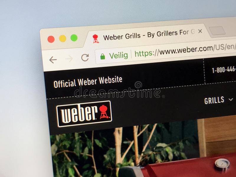 Web site oficial do weber COM - Weber imagens de stock