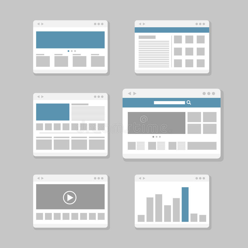 Web site page templates stock illustration