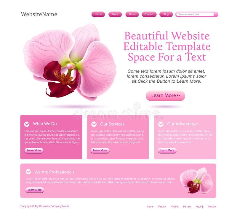 Web site para belezas ilustração royalty free