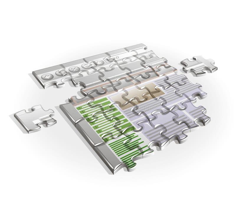 Web-site puzzle stock images