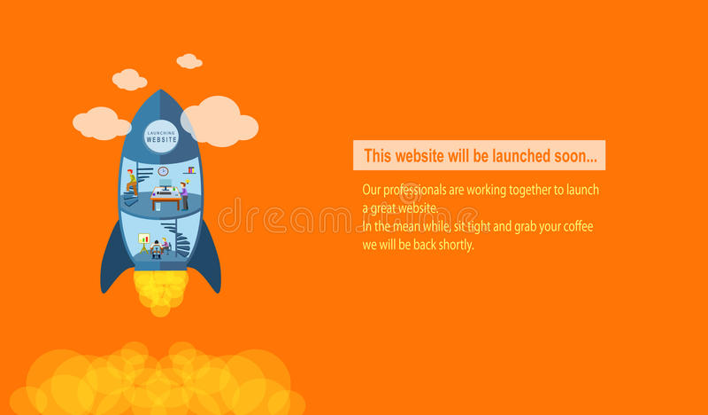 Web site que lança-se logo fotos de stock royalty free