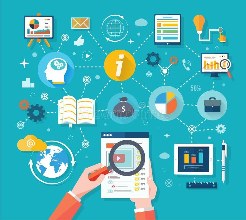 Web site seo analytics charts on screen of PC. Web site analytics charts on screen of PC. SEO Search Engine Optimization programming business up trend statistics royalty free illustration