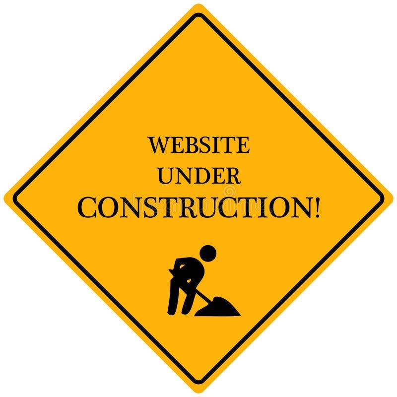Web site sob a construção ilustração stock