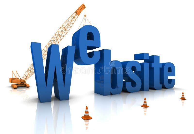 Web site sob a construção ilustração do vetor