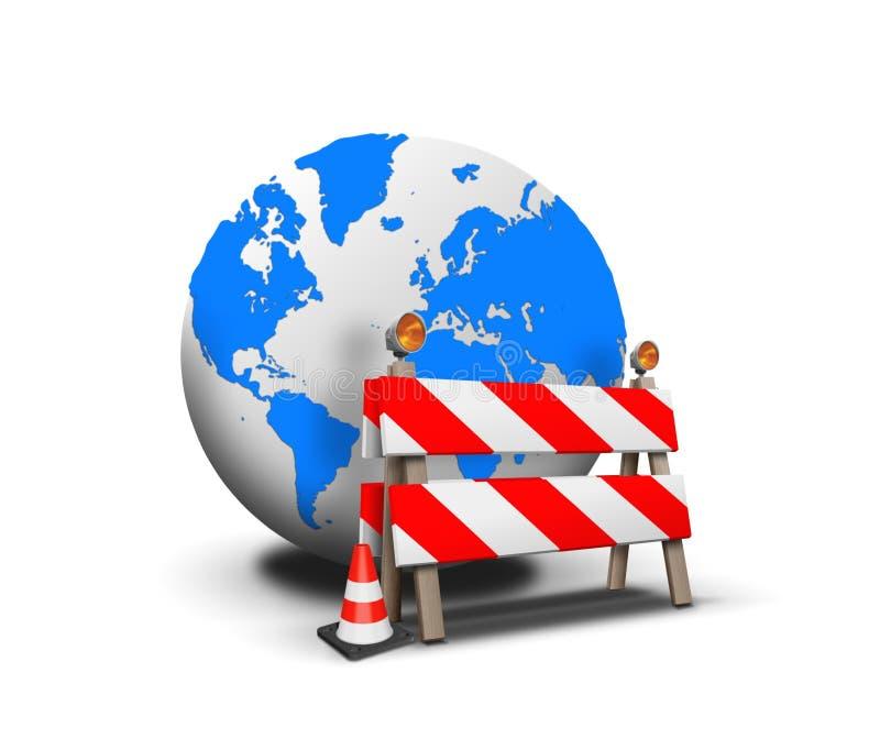 Web site sob a construção ilustração royalty free