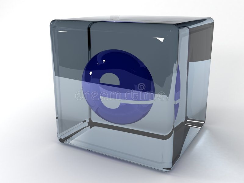 Web site symbol. It is abstract web site symbol stock illustration