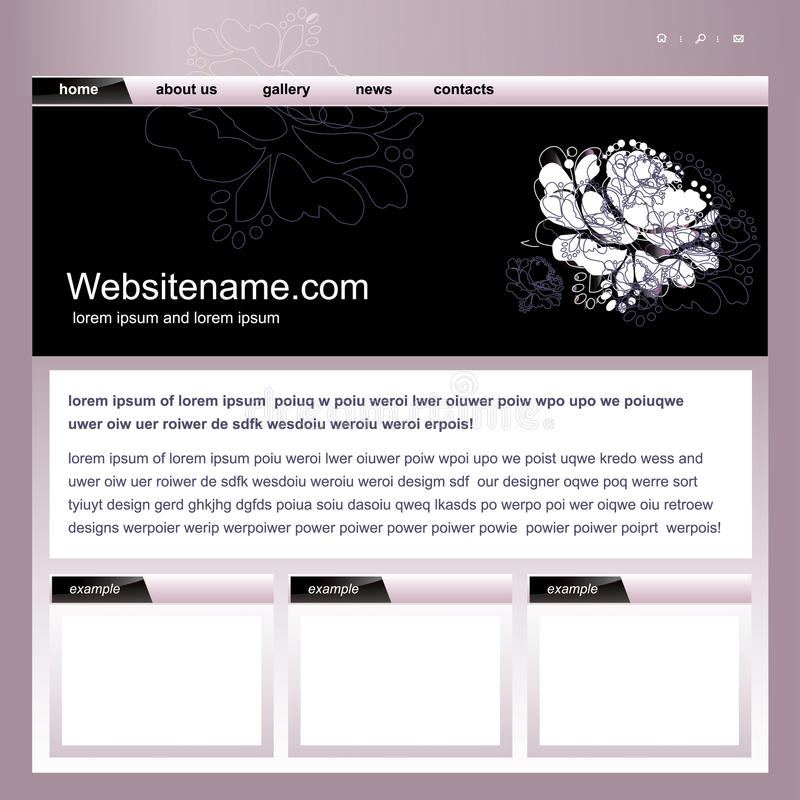 Web site template. S page homepage royalty free illustration