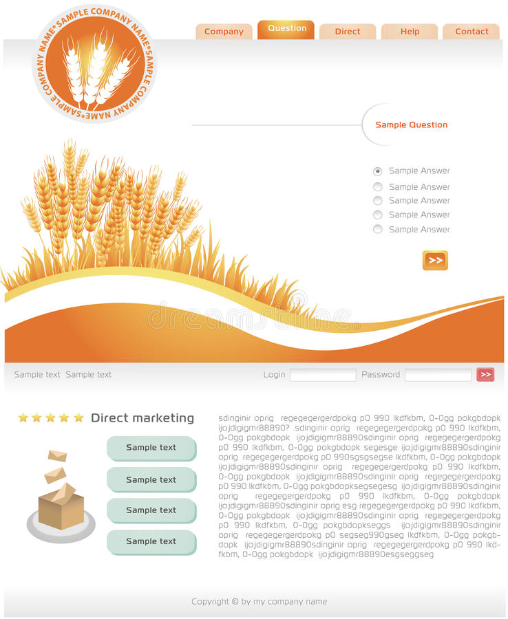 Web Site Template royalty free illustration