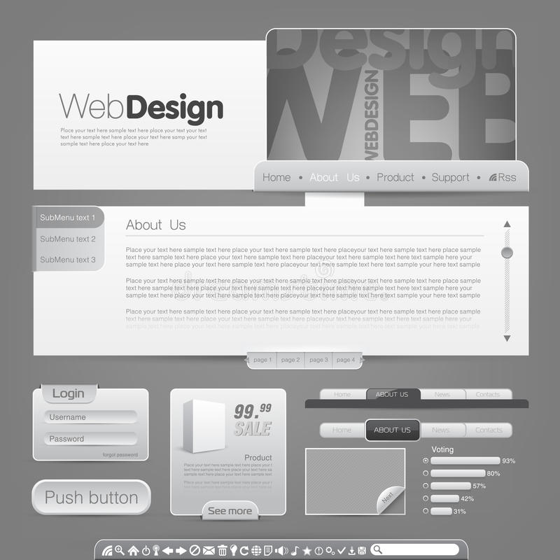 Web site template. Vector web site design template. To see more go to my portfolio royalty free illustration