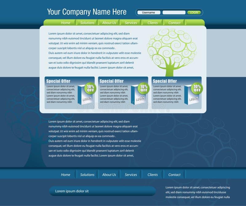 Web site template vector illustration
