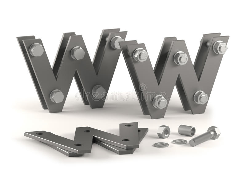 Web Site Under Construction - Bolts Stock Image