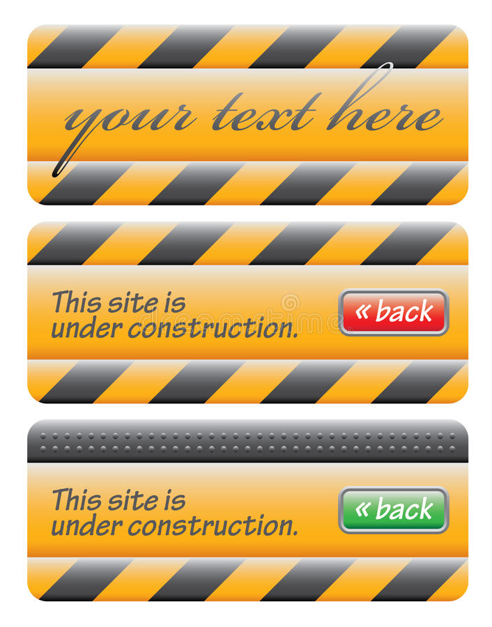 Download Web Site Under Construction Message Set Stock Vector - Image: 10160277