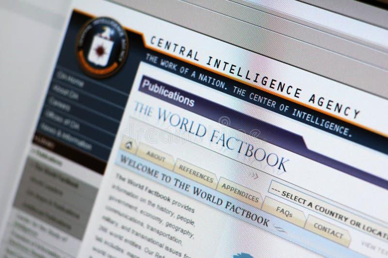 Web site von CIA - Hauptinternet-Seite lizenzfreie stockfotografie