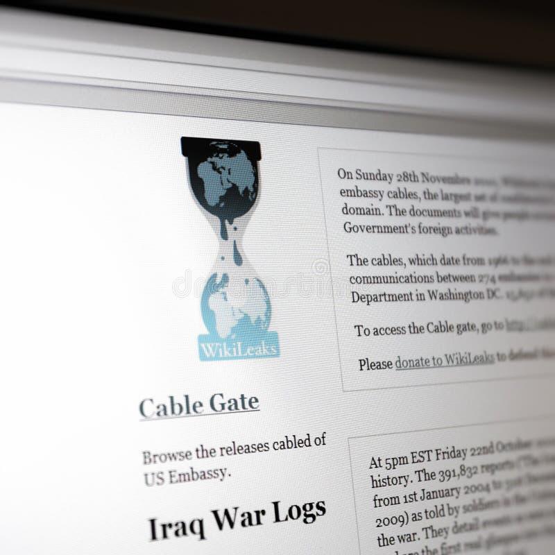 Web site von Wikileaks.com - der Irak-Krieg-Protokollen lizenzfreies stockbild
