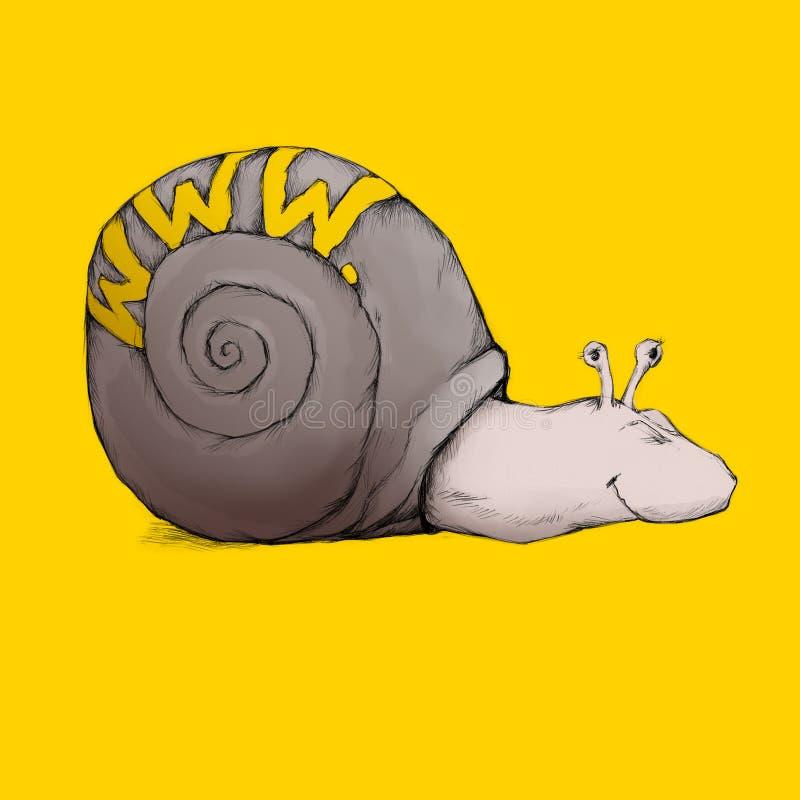 Download Web snail stock illustration. Image of illustration, yellow - 34254593