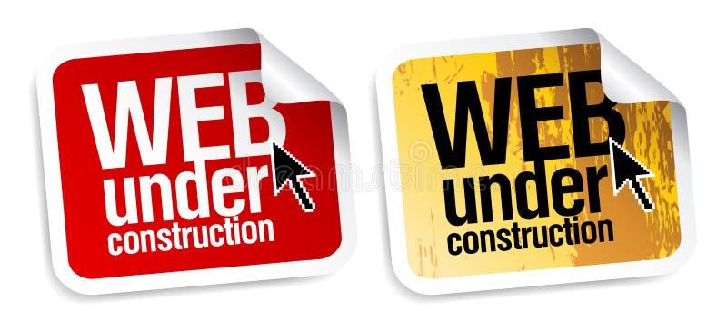 Web sob etiquetas da construção. ilustração royalty free