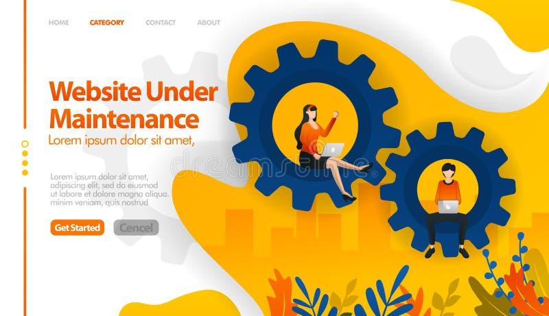 A Web sob a manutenção, 404 não encontrados, Web nas vendas, Web no conceito da ilustração do vetor do reparo pode ser uso para,  ilustração do vetor