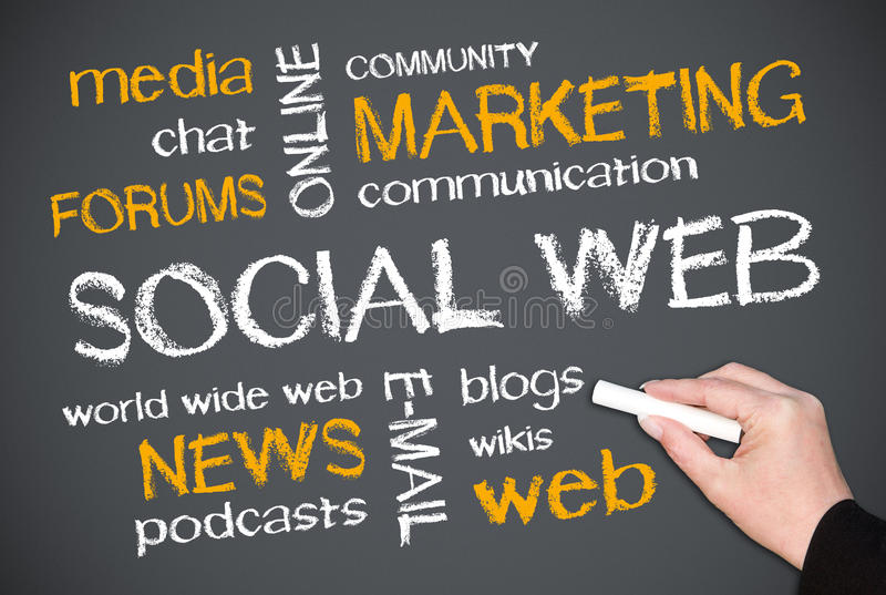 Web social   images stock