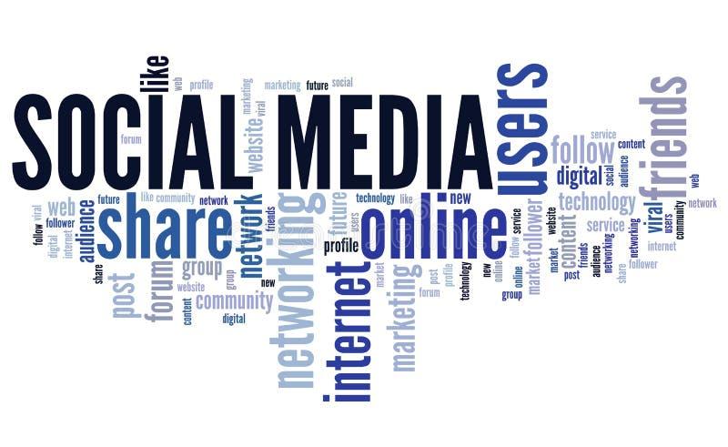 Web sociale di media illustrazione vettoriale