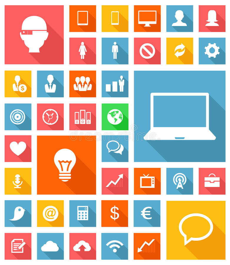 Download Web and Soft Icon set stock vector. Image of gear, illustration - 33157157
