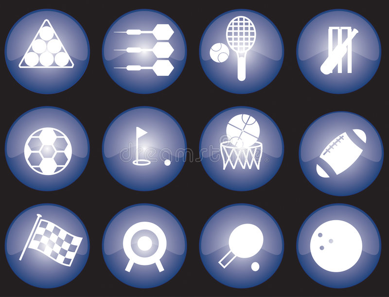 Download Web sports icons stock vector. Illustration of darts, ping - 4240193