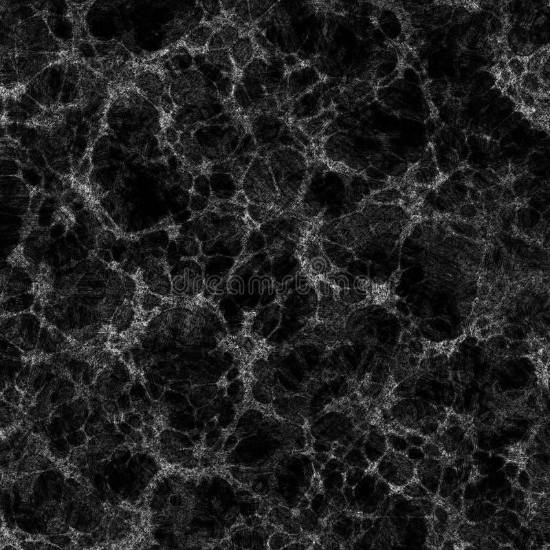 Web of stars. Dark matter spacing of stars and galaxies vector illustration