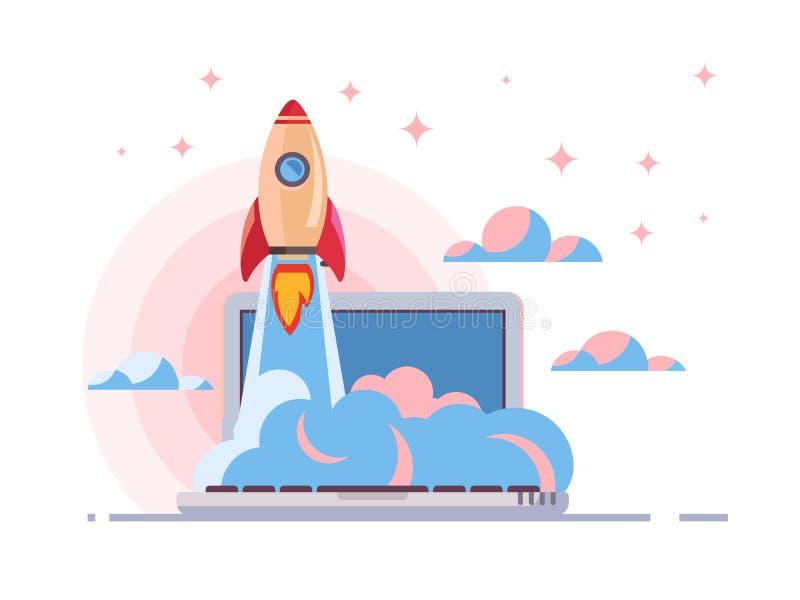 Web start up flat style vector illustration