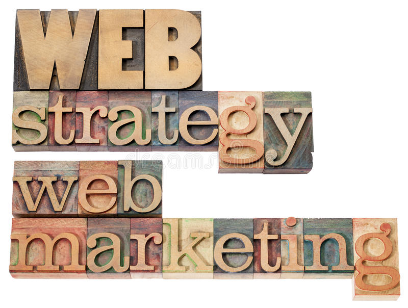 Web-Strategie und -marketing lizenzfreie stockbilder