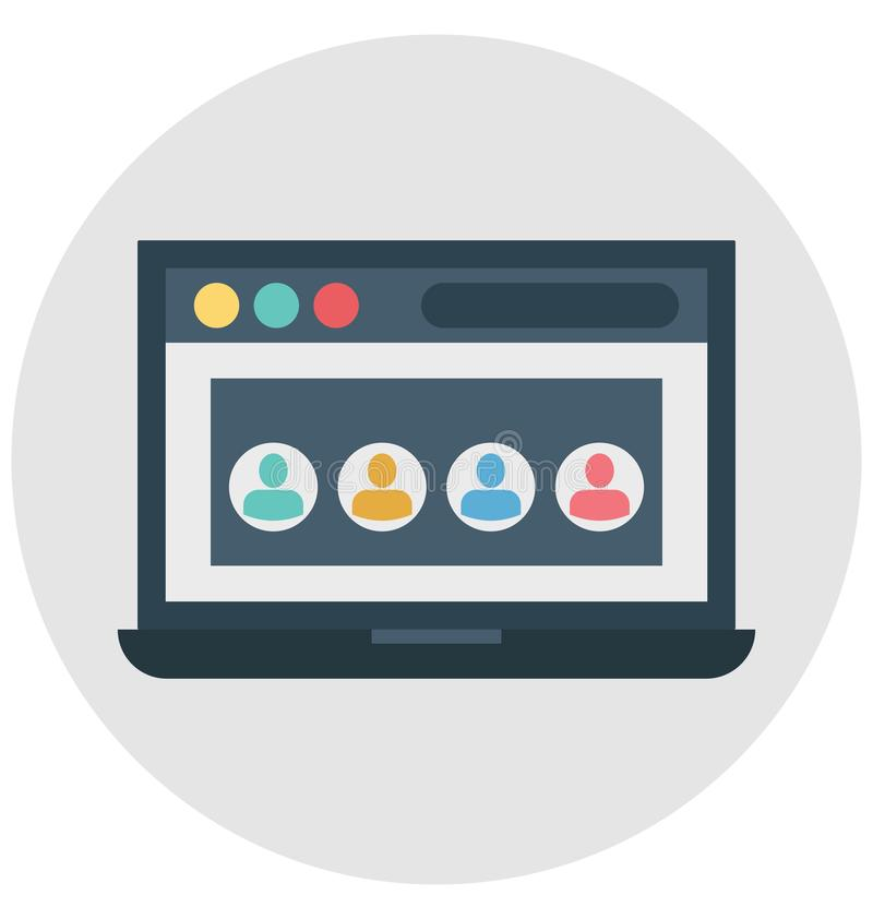 Web structure, web design, Isolated Vector icons that can be easily modified or edit stock illustration