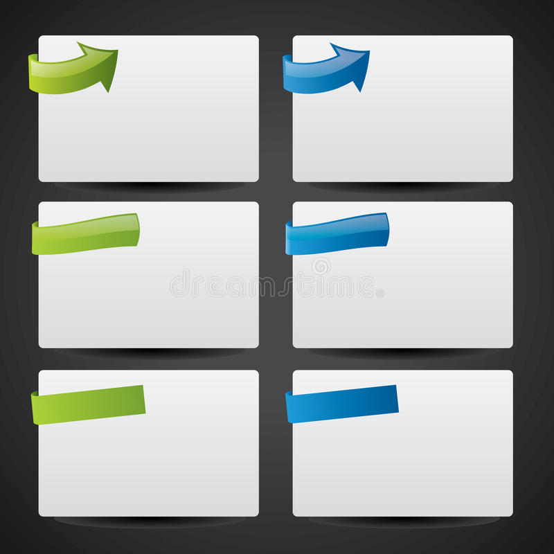 Web style notre cards royalty free illustration