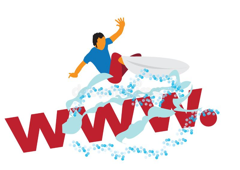 Web surfer stock photos