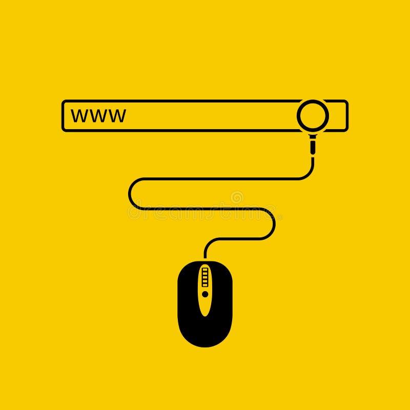 Web surfing concept. stock illustration