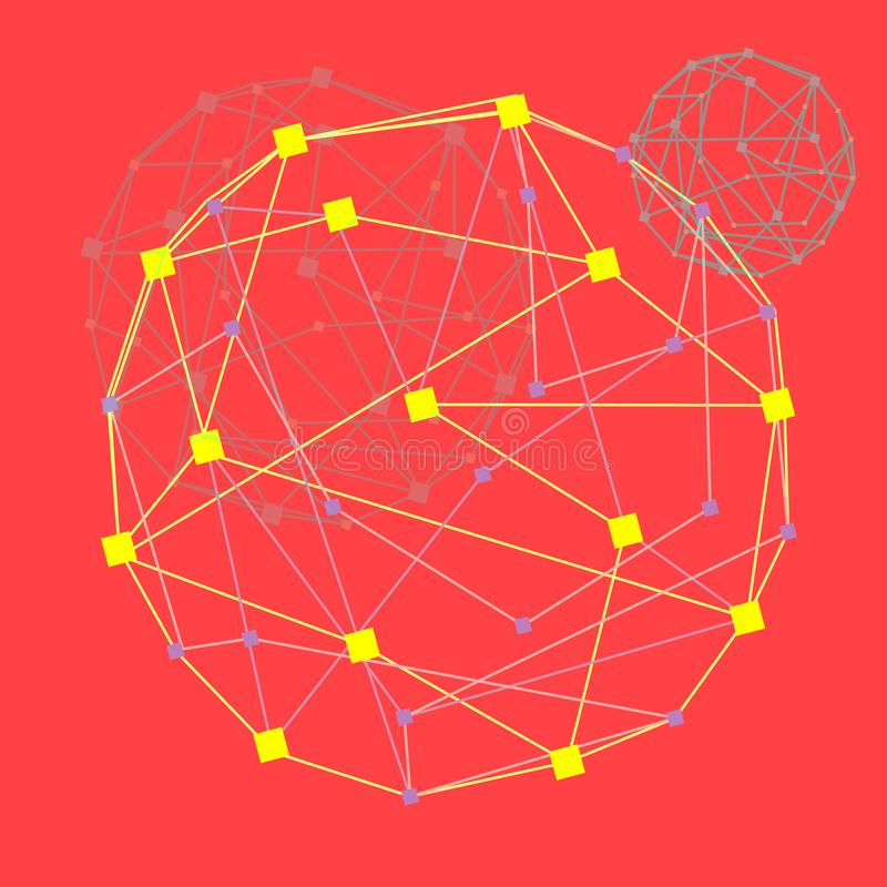 web T?nel do cyber do c?rculo de cor, fundo abstrato futurista, ilustra??o do vetor ilustração stock