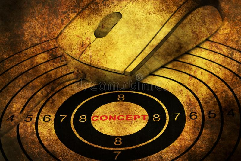 Web Target concept stock photography
