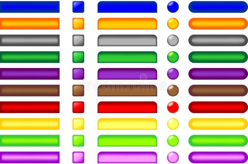 Web-Tasten vektor abbildung