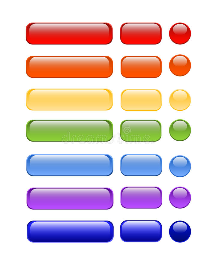Web-Tasten stock abbildung