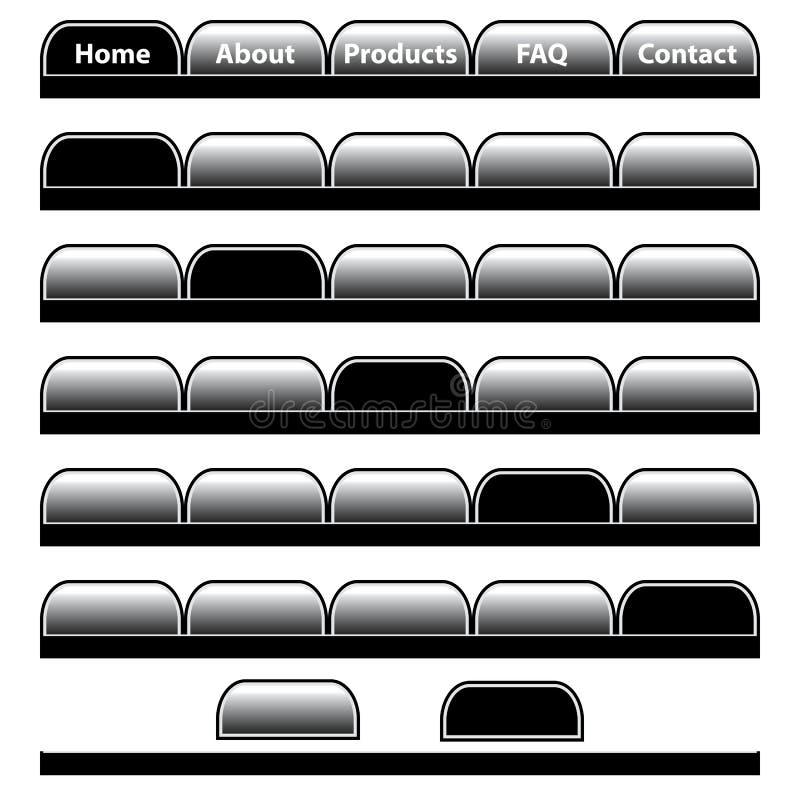 Web-Tastennavigationsstäbe stellten ein lizenzfreie abbildung